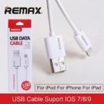 สายชาร์จ iPhone 5/6/7 Remax USB Data Cable สีขาว