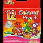 ดินสอสีไม้สั้น เกรดเอ 12 สี/กล่อง