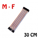 Jumper (M2F) cable wire 30cm Male to Female 40pcs