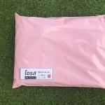 แพค 100 ใบ ซองไปรษณีย์พลาสติก สีชมพูโอรส ขนาด 25x31+4 cm เกรด A (ขนาดเท่าA4)