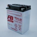 แบตเตอรี่มอเตอร์ไซค์ แบบน้ำ ยี่ห้อ FB รุ่น FB14L-A2 (12V 14AH)(9แผ่น) สำหรับรถรุ่น NINJA500,CB750,ZX10,ZX11,VULCAN750,NINJA900R,KL650,Z1-R