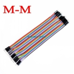 Jumper (M2M) cable wire 40pcs 2.54mm 20cm Male to Male