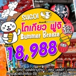 IJ JXW11 ทัวร์ ญี่ปุ่น Sugoi โตเกียว ฟูจิ Summer Breeze 5 วัน 3 คืน บิน XW