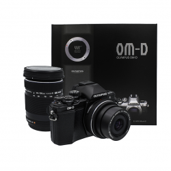 Olympus OM-D E-M10 Mark II Lens 14-42 mm + 40-150 mm (Black)