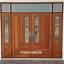 ประตูไม้สักกระจกนิรภัย ชุด7ชิ้น รหัส AAA106