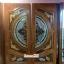 ประตูไม้สักกระจกนิรภัย แกะมังกร,หง,ปลา เกรดA รหัส A39 thumbnail 1