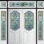 กระจกนิรภัยสเตนกลาส ประตูไม้สัก รหัส G48 thumbnail 1