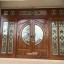 ประตูไม้สักกระจกนิรภัยบานเลื่อน ชุด7ชิ้น รหัสAAA19