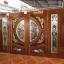 ประตูไม้สักกระจกนิรภัยแกะมังกร,หงส์ ชุด4ชิ้น รหัส AAA29 thumbnail 1