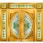 กระจกนิรภัยสเตนกลาส ประตูไม้สัก รหัส G07 thumbnail 1