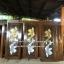 ประตูไม้สักบานเดี่ยวแกะปลาเงิน-ทอง เกรดA, B+ รหัส C108