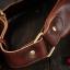 AD3B กระเป๋าคาดอก กระเป๋าคาดเอว หนัง Crazy Horse PU สีน้ำตาลกาแฟ thumbnail 10