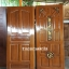 ประตูไม้สักบานเดี่ยว ลูกฟักแกะองุ่น เกรดA, B+ รหัส C49