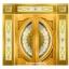 กระจกนิรภัยสเตนกลาส แตงโมเต็มบานสีทอง รหัส G09 thumbnail 1