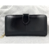 W Long Leather Black