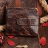 M Short Leather Wax Dark Brown