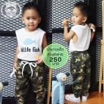 กางเกงขายาวเด็ก รุ่นลายทหาร อายุ 1-4 ขวบ ไซส์ M,L