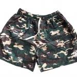 SALE กางเกงผ้าคัตตอล รุ่นเชือก L ลายทหาร