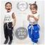 กางเกงขายาวเด็ก ผ้าร่ม รุ่นแถบ อายุ 1-4 ขวบ ไซส์ M,L,XL thumbnail 1