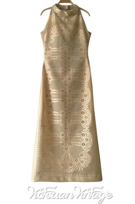 ชุดลูกไม้ Vintage Maxi Dress
