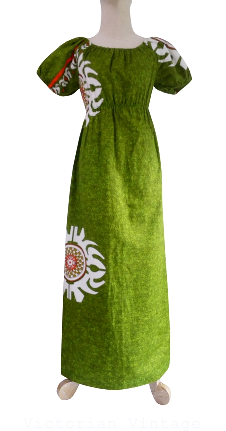 ชุดฮาวาย Maxi Dress Hawaii ( MADE IN U.S.A. )