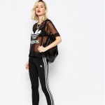 adidas Originals Three Stripe Leggings In Black
