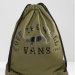กระเป๋าเป้สะพายหลัง เชือกรูด จาก VANS สีเขียว