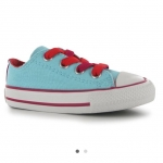 Converse Double Tongue Infant Trainers สีฟ้า