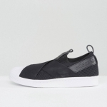 SUPERSTAR SLIP-ON SHOE in Black Net