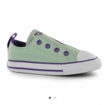 Converse Ox Slip On Simple Infants Trainers สีมินท์