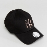 หมวก New Era 9Forty woman Cap with Rose Gold Metal NY