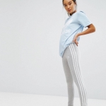 Adidas Originals Adicolour Leggings With 3 Stripe Grey
