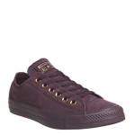 Converse All Star Low Leather Dark Sangria Rose Gold Exclusive