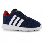 adidas LiteRacer Infant Trainers สีกรม