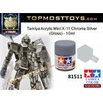 Tamiya 81511 Acrylic Mini X-11 Chrome Silver (Gloss) - 10ml