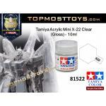 Tamiya 81522 Acrylic Mini X-22 Clear (Gloss) - 10ml