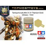 Tamiya 81531 Acrylic Mini X-31 Titanium Gold (Gloss) - 10ml