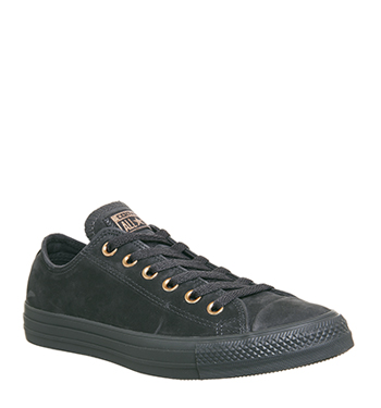 Converse All Star Low Leather Almost Black Rose Gold Exclusive