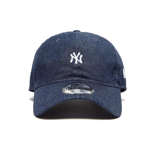 หมวก NEW ERA 9Forty Cap Mini NY Logo สียีนส์ ไร้โครงหมวก