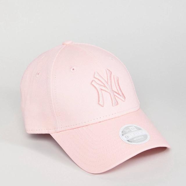 หมวก NEW ERA 9Forty woman Cap NY Color nude pink logo pink
