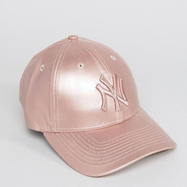 New Era Metallic 9Forty Cap in Rose Gold