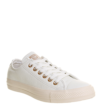 Converse All Star Low Leather Pastel Rose Tan Rose Gold Exclusive สำเนา