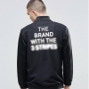 adidas Originals BLK/WVN Track Jacket With Backprint In Black
