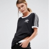 adidas Originals California Three Stripe T-Shirt Black
