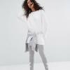 Adidas Originals Adicolour Leggings In With double Trefoil Logo Grey