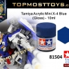 Tamiya 81504 Acrylic Mini X-4 Blue (Gloss) - 10ml