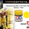 Tamiya 81524 Acrylic Mini X-24 Clear Yellow (Gloss) - 10ml