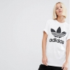 adidas Originals Adicolour Oversized T-Shirt With Trefoil Logo white