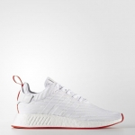adidas Originals NMD R2 Primeknit White/Core Red