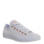Converse All Star Low Leather Trainers Porpoise Vapour Pink Exclusive